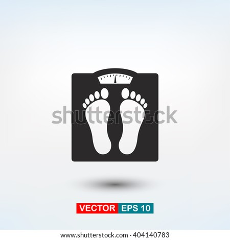 floor scales icon. One of set web icons