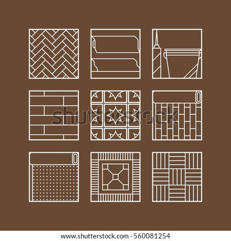 Floor Material Vector Icons Sets Stock Vector 348224084