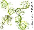Floral abstract backgrounds, vector illustration - stock vector