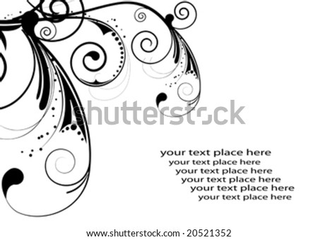 floral abstract design elements with space for text