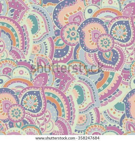 floral abstract seamless tile is good to use for textile, web design, backgrounds.