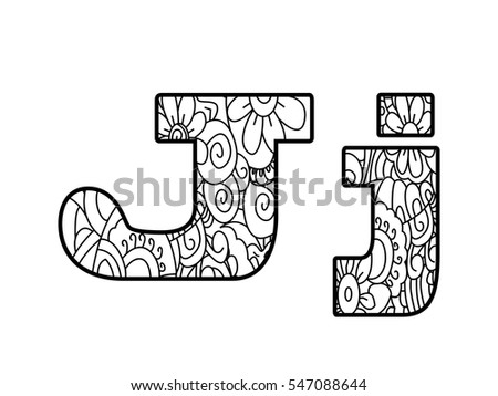 Floral Letters Coloring : Best 25 printable letters ideas on pinterest