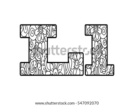 Floral Letters Coloring : The 25 best letter l ideas on pinterest crafts