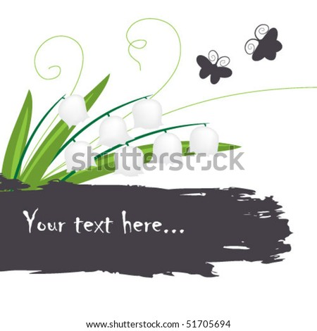 floral and butterfly  background - stock vector