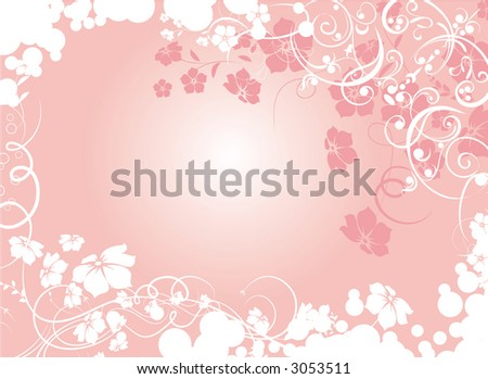Floral background. An abstract vector illustration