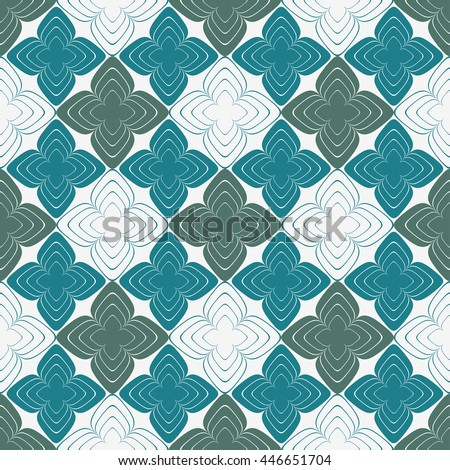 Floral background. Colorful seamless pattern - stock vector
