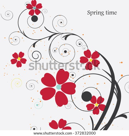 Floral background,composition - stock vector