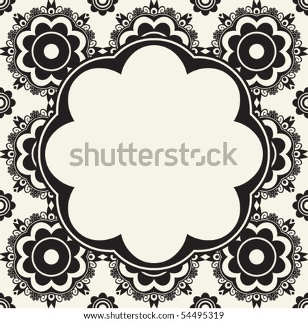floral background design, vector image