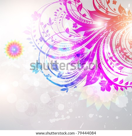Floral Background design with flower ornament for summer banner. Vector. eps 10 - stock vector