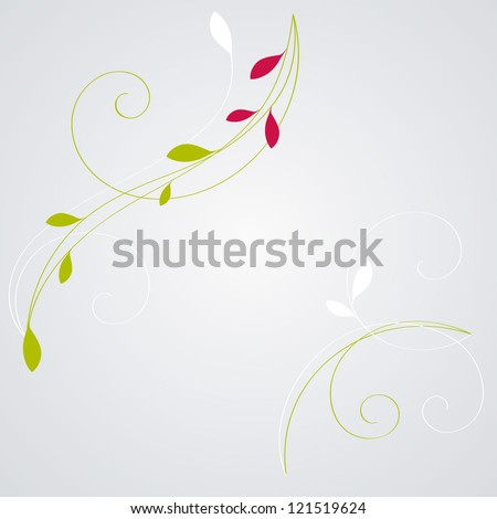 Floral background. Element for design. Vector illustration. - stock vector