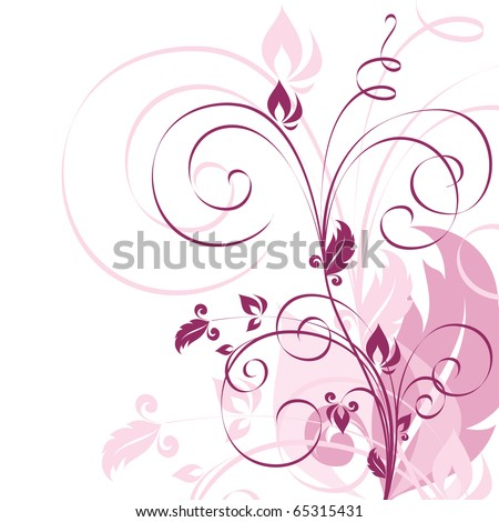 Floral Background. eps10. - stock vector