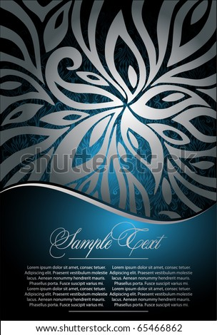 floral  background for design - stock vector
