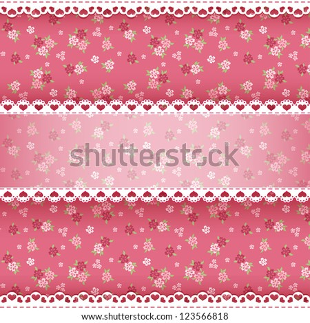 Floral background for scrapbook. Vector illustration. - stock vector