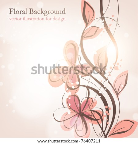 floral background, greeting vector card. eps 10. - stock vector