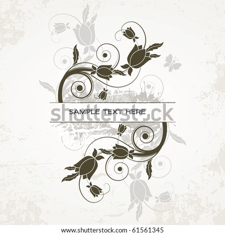 Floral Background. Illustration in eps10 format. - stock vector