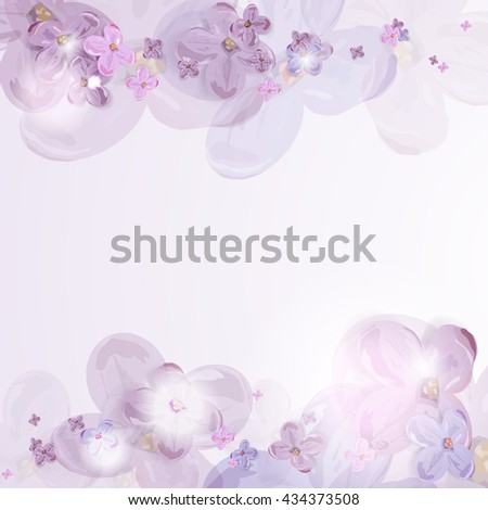 Floral background. Lilac.