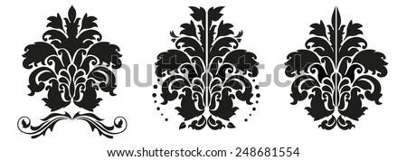 Floral background seamless decoration pattern, illustration isolated on white - stock vector