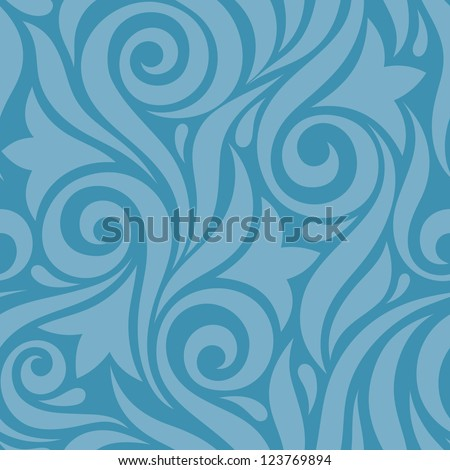 Floral background - seamless vector pattern. Flowers abstract background. - stock vector