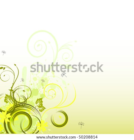 floral background - vector
