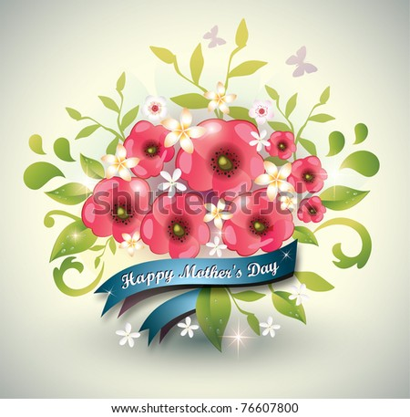 Floral background-Vector Eps10 - stock vector