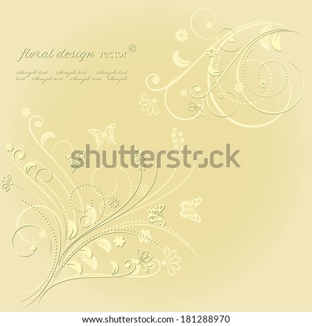 Floral background. Vector illustration.
