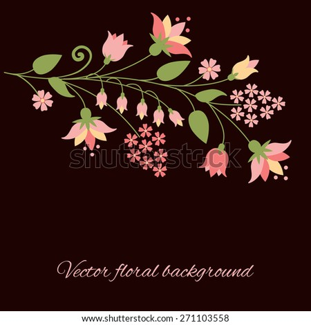 Floral background. Vector illustration. Can use for birthday card, wedding invitations.  - stock vector