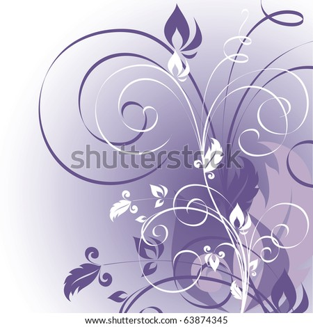 Floral Background. Vector in eps10 format. - stock vector