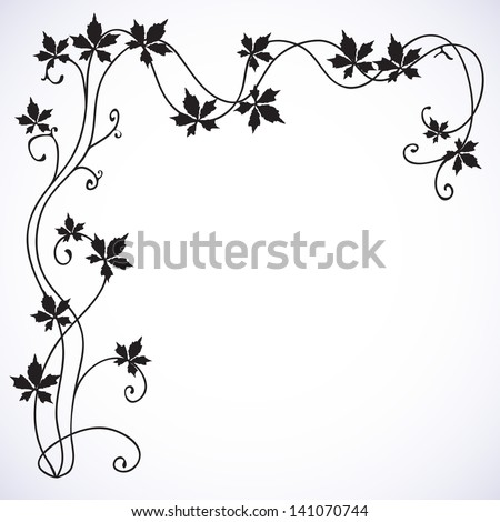 Floral background with a vine. - stock vector