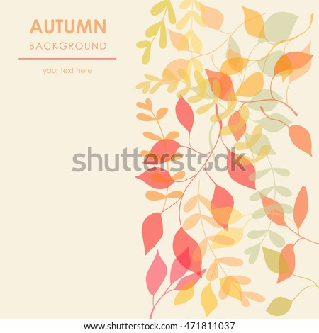 floral background with autumn leaves