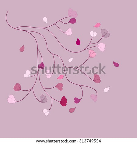 Floral background with blossom branch