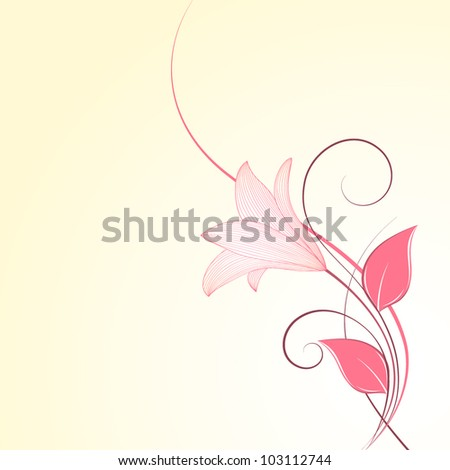 Floral background with flowers lily. Element for design. - stock vector