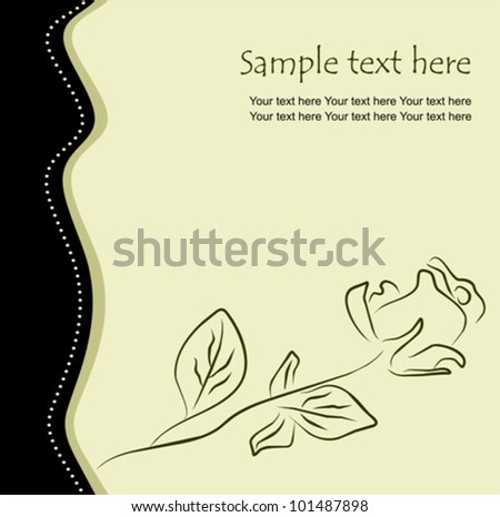 Floral background with one rose, vector illustration - stock vector