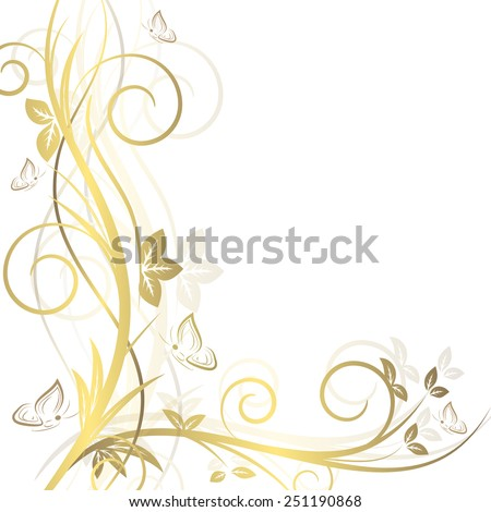 Floral background with ornate elements/design with place for your content or creative editing/vector illustration - stock vector