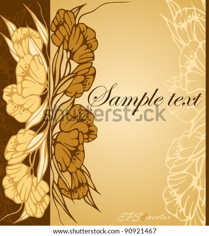 Floral background with tulips. Vector.