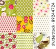 Floral backgrounds - stock