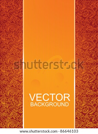 floral beautiful red background - vector illustration - stock vector