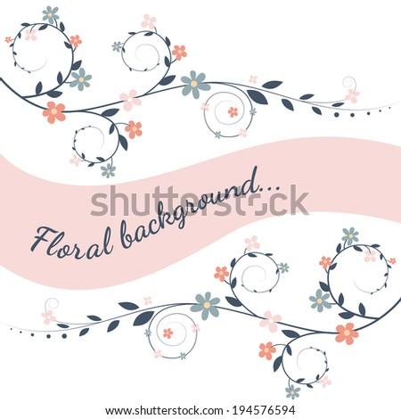Floral border - stock vector