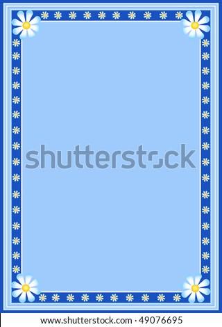 Floral border frame - stock vector