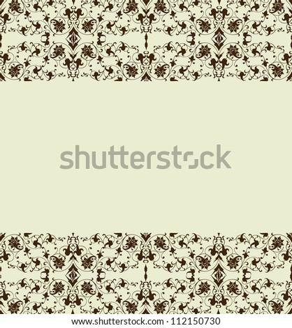 Floral border. Vector illustration - stock vector