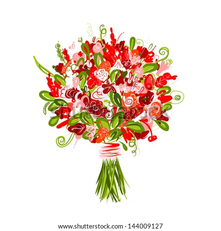 Wedding Bouquet Vector Flowers Stock Images Royalty Free Images