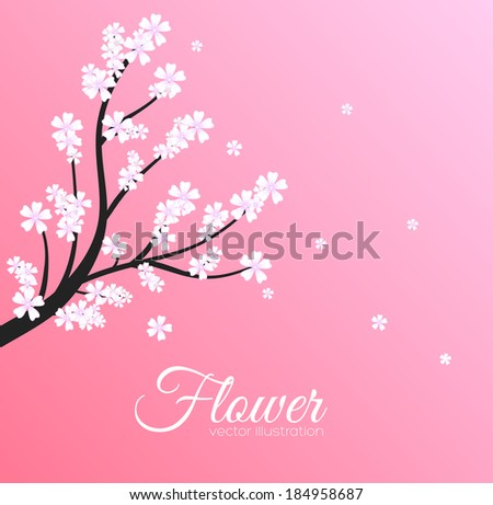 floral branch background concept. Vector illustration
