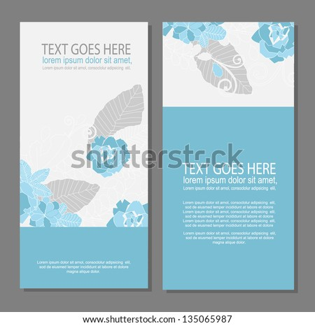 floral brochure/card design