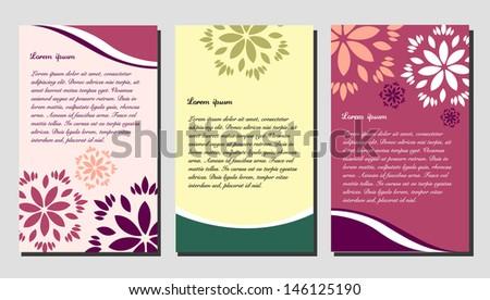 Floral brochure design - stock vector