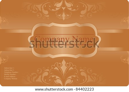 Floral business Card Template. Design vector - stock vector