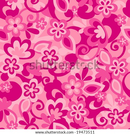 Floral Camo Background Seamless Repeat Pattern Vector Illustration - stock vector
