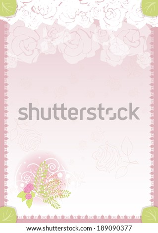 floral congratulation greeting template diploma vertical portrait vector version