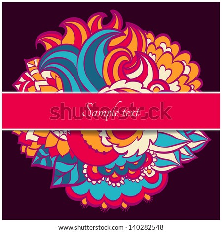 Floral curl abstract ornate - stock vector