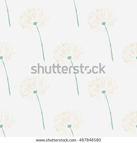 Floral dandelion pattern. Vector Illustration