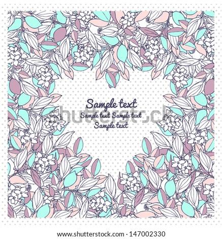 Floral decor - stock vector