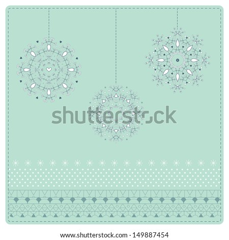 Floral decor with leaves  - stock vector